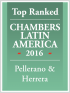 "Top Ranked ""Leading Firm"" by Chambers Latin America Guide 2016 2016"