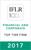 """Top Tier Firm"" by The International Financial Law Review (IFLR1000) 2015"