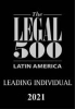 Partner Vitelio Mejia ranked as a Leading Individual by Legal 500 Latin America 2021